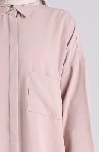 قميص كستنائي 8155-08