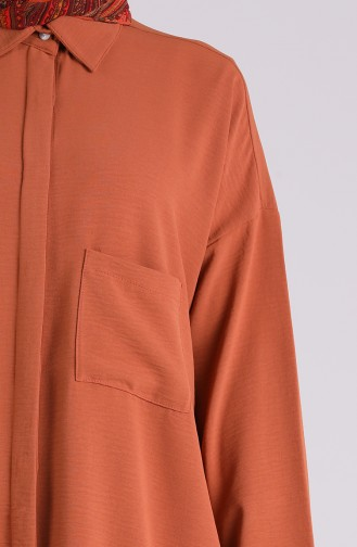قميص بني قرفة 8155-19