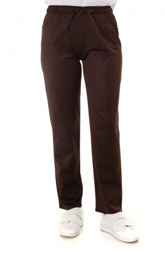 Pantalon Couleur Brun 4210PNT-01