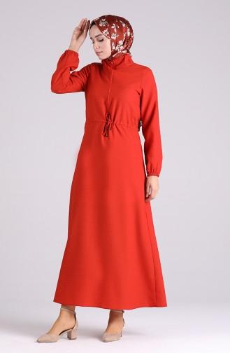 Robe Hijab Couleur brique 4325-04