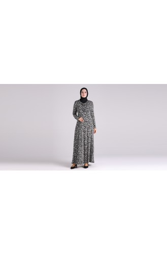 Robe Hijab Noir 4672-01