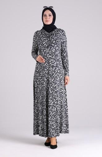 Robe Hijab Bleu Marine 4672-02
