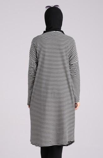 Yarasa Kol Çizgili Tunik 1328-01 Siyah Beyaz
