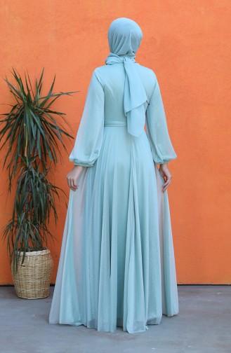فساتين سهرة بتصميم اسلامي أخضر 4800-03