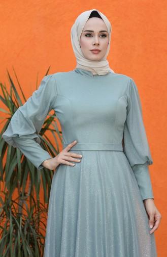 فساتين سهرة بتصميم اسلامي أخضر 4822-04