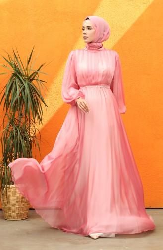 فساتين سهرة بتصميم اسلامي وردي 0043-01