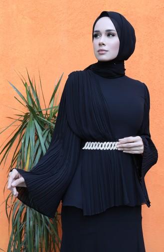 فساتين سهرة بتصميم اسلامي أسود 0112-01