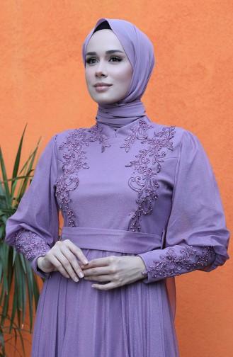 Habillé Hijab Lila Foncé 5073-02