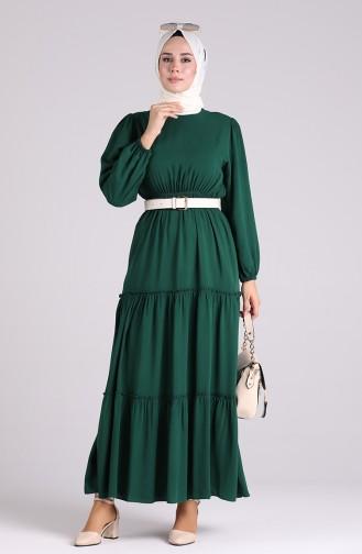 فستان أخضر زمردي 3003A-02