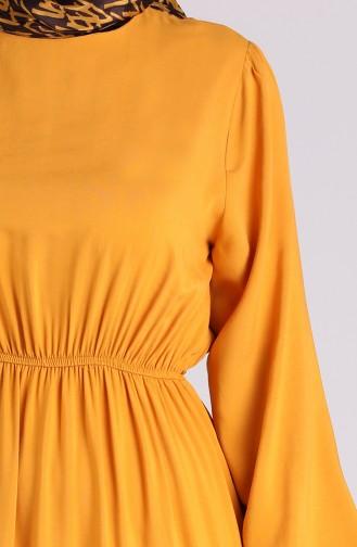 فستان أصفر خردل 3003A-03