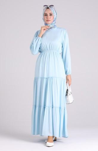Robe Hijab Bleu Bébé 3003A-06