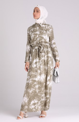Robe Hijab Khaki 6059-01