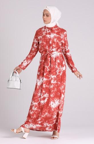 Buttoned Belted Dress 6059-02 Tile 6059-02