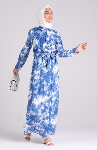 فستان نيلي 6059-03