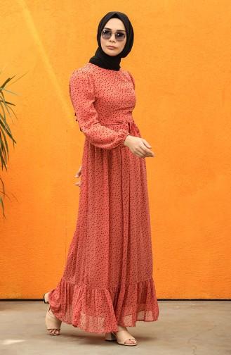 فستان وردي داكن 6088-04