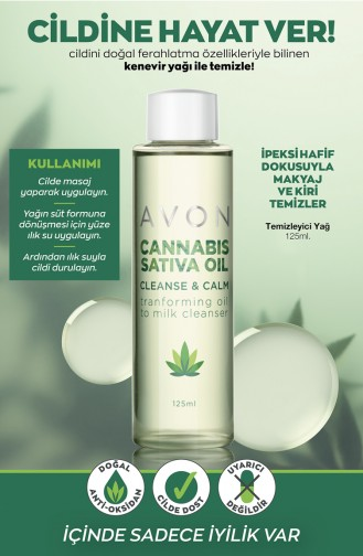Avon Cannabis Sativa Oil Temizleyici Yağ 125 Ml KREM2635