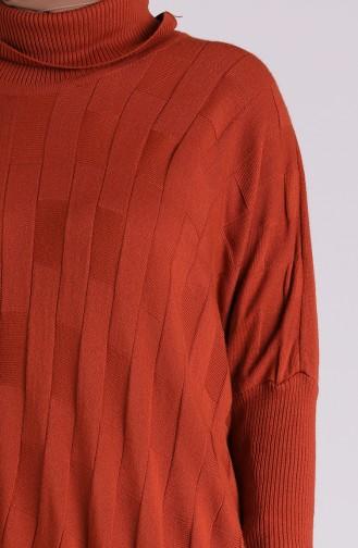 Ziegelrot Poncho 1050-11