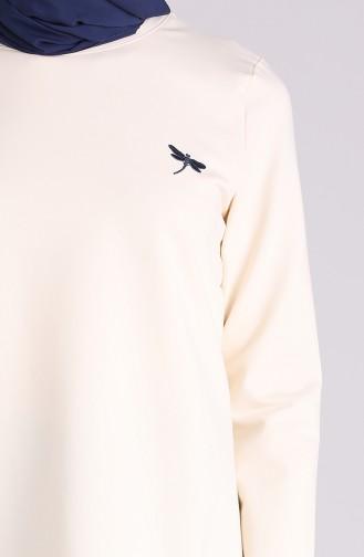 قميص رياضي كريمي 1000-01