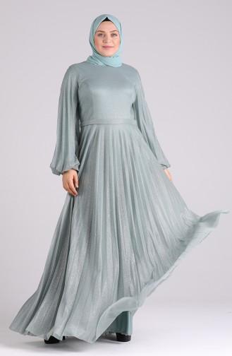 Habillé Hijab Vert noisette 4828-04