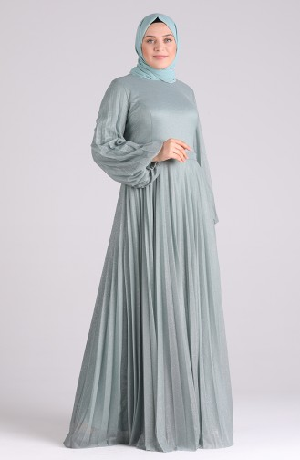 فساتين سهرة بتصميم اسلامي أخضر 4828-04