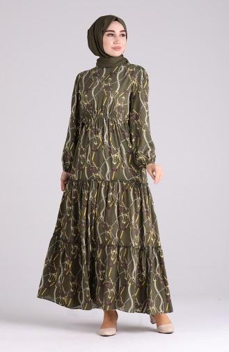 Khaki Hijap Kleider 3003-06
