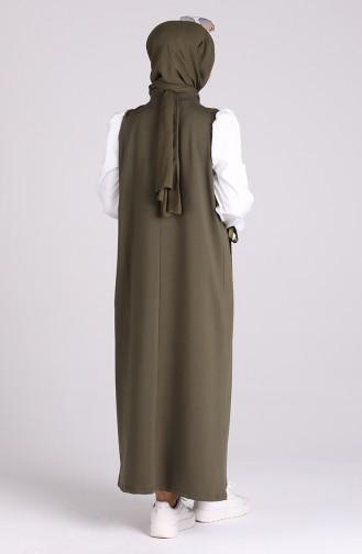 Khaki İslamitische Jurk 1002-02