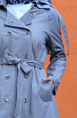 Gray Trench Coats Models 8247-02