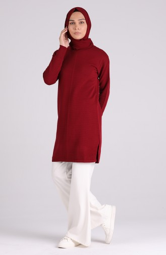 Weinrot Pullover 1455-05