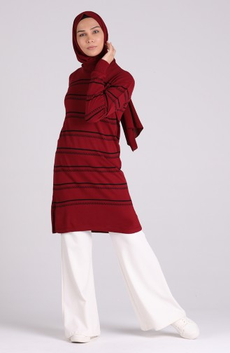 Weinrot Pullover 1454-06