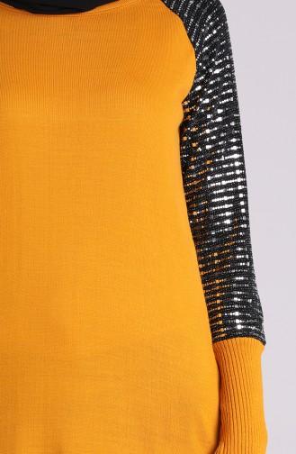 سترة أصفر خردل 1456-01