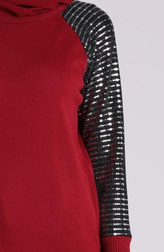 سترة أحمر كلاريت 1456-07
