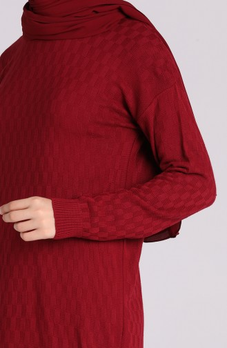 Weinrot Pullover 1460-07