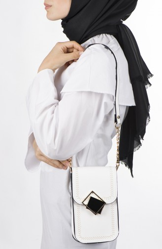 White Shoulder Bag 36-02