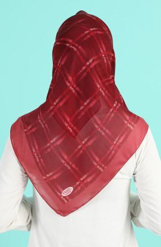 Claret red Hoofddoek 90664-04