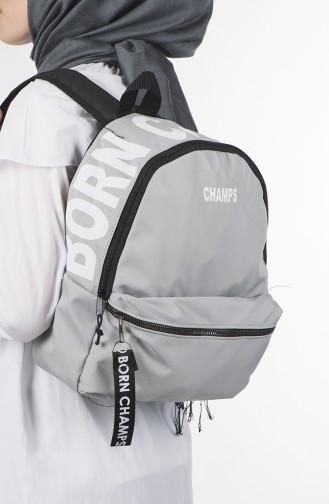 Light Gray Back Pack 27-07