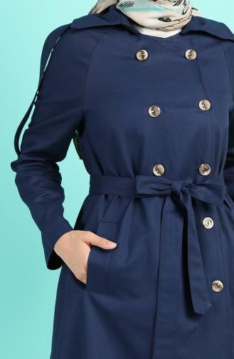 Dunkelblau Trench Coats Models 8247-05