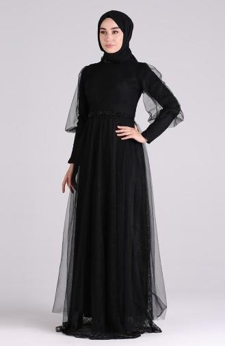 Habillé Hijab Noir 4810-01