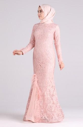 Puder Hijab-Abendkleider 4702-07
