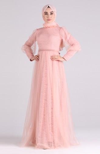 Habillé Hijab Saumon 4810-02