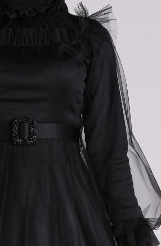 فساتين سهرة بتصميم اسلامي أسود 4818-07