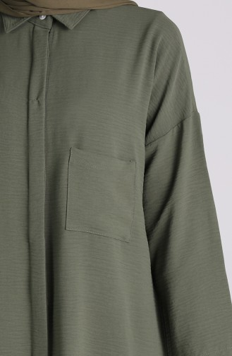 Khaki Overhemdblouse 8155-13