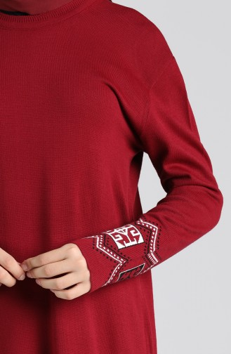 Weinrot Pullover 1452-04