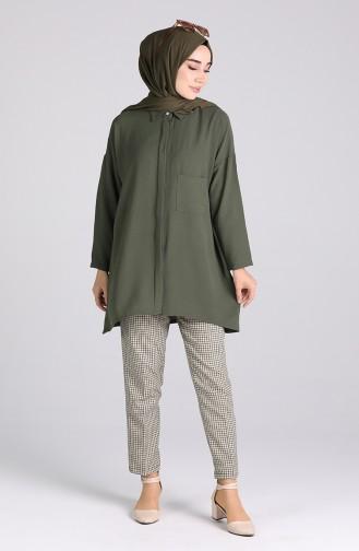 Pantalon Vert huile 5002-01