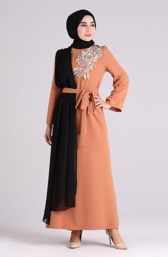Karamel Hijab-Abendkleider 1142-01