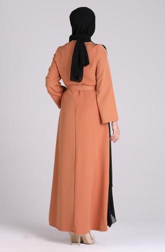 Habillé Hijab Caramel 1142-01