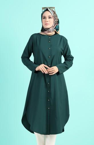 Smaragdgrün Tunikas 11005-07