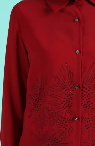 البلايز أحمر كلاريت 0315-04