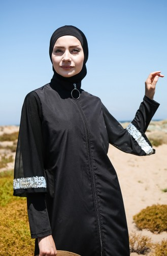Black Swimsuit Hijab 2032-01