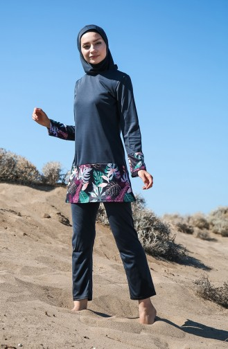 Light Black Swimsuit Hijab 1010-01