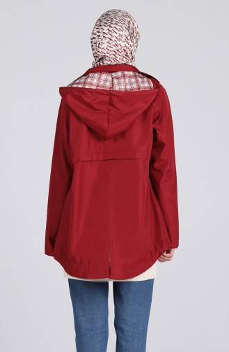 Claret red Trench Coats Models 0507-05